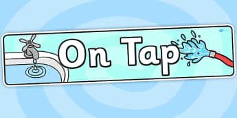 On Tap IPC Topic Display Banner - water, ipc, header, display