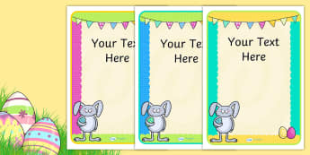 Easter Party Editable Poster - easter, easter party, poster