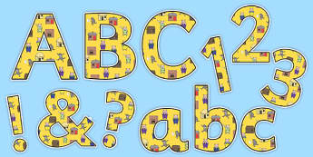 The Three Little Pigs Small Lowercase Display Lettering - letters