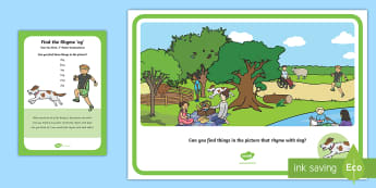 Find the Rhyme 'og' Poster - Phase 1 Aspect 4: Rhythm and Rhyme, letters and sounds, phonics, rhyming, rhyme, -og