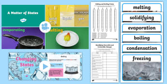KS2 Changing States Video Activity Pack - Animation, video, science, ks2, changing, states, gas, liquid, solid, dissolve, melt, solidify, cond