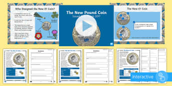 KS2 The New £1 Coin   Activity Pack - new coin, pound, new pound, coin, maths, challenge, money, pound coin, design, measurement,