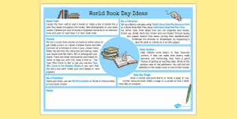 World Book Day Ideas - world book day, ideas, book day, world