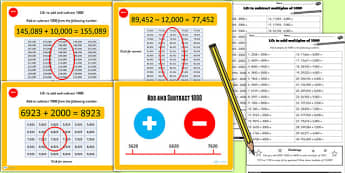 Add or Subtract 1000 Lesson 5 Teaching Pack - teaching pack