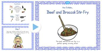 Beef and Broccoli Stir Fry Recipe PowerPoint - australia, recipe