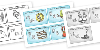 One Two Buckle My Shoe Sequencing (4 per A4) - One, Two, Buckle My Shoe, nursery rhyme, sequencing, rhyme, rhyming, nursery rhyme story, nursery rhymes, counting rhymes, 1,2,Buckle my shoe resources