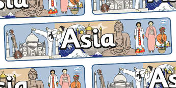 Asia Display Banner - Asia Display Banner, Asia, display, banner, sign, poster, China, Japan, India, Corea, continent, Asian