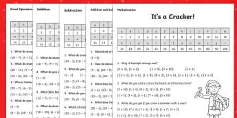KS1 Christmas Jokes Maths Activity Sheet Pack