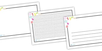 Numeracy Page Border (Landscape) - page border, border, frame, writing frame, numeracy, numeracy page borders, number page borders, numbers, writing template, writing aid, writing, A4 page, page edge, writing activities, lined page, lined pages