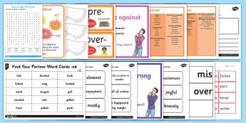 Prefixes and Suffixes  - grammar, spelling, adding suffixes, adding prefixes