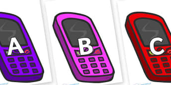A-Z Alphabet on Mobiles - A-Z, A4, display, Alphabet frieze, Display letters, Letter posters, A-Z letters, Alphabet flashcards