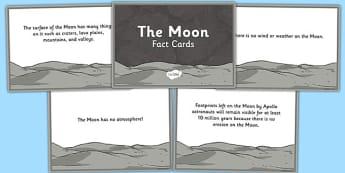The Moon Fact Cards - the moon, fact cards, moon, fact, cards