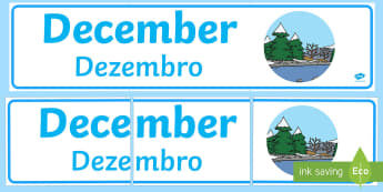 December Display Banner English/Portuguese - December Display Banner - december, display banner, display, banner, months, year, abnner, eal