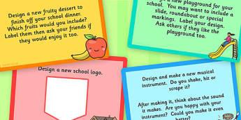 KS1 Design Technology Challenge Cards - KS1, Design, Technology
