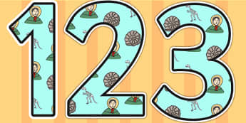 Mary Anning Themed Display Numbers - mary anning, display numbers, themed number, classroom number, numbers for display, numbers, numbers for display