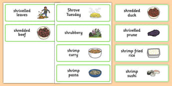 Three Syllable SHR Word Cards -speech sounds, phonology, articulation, speech therapy, cluster reduction