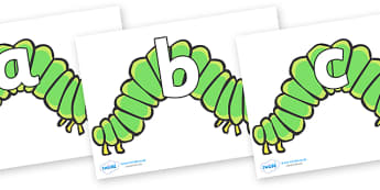 Phoneme Set on Hungry Caterpillars to Support Teaching on The Very Hungry Caterpillar - Phoneme set, phonemes, phoneme, Letters and Sounds, DfES, display, Phase 1, Phase 2, Phase 3, Phase 5, Foundation, Literacy