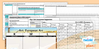 PlanIt - Art LKS2 - European Art Unit Assessment Pack - planit, art, lks2, european art, unit, assessment, pack