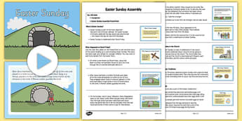 Easter Sunday Assembly Pack - Easter, Easter Story, Easter Sunday, assembly, pack