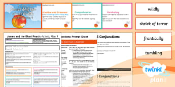 Y4 James and the Giant Peach: Activity Plan 9 PlanIt Guided Reading Pack to Support Teaching on James and the Giant Peach - James and the Giant Peach, roald dahl, insects, carousel, y4, year 4, ks2, English, literacy, guided
