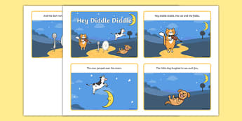 Hey Diddle Diddle Story Sequencing Cards  - Hey Diddle Diddle, nursery rhyme, sequencingrhyme, rhyming, nursery rhyme story, nursery rhymes, Hey Diddle Diddle resources, fiddle, cat