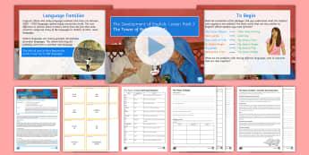 Development of English 3: The Tower of Babel 1 Lesson Pack - English language, Development of English, history of English, vocabulary, Indo-European, language fa