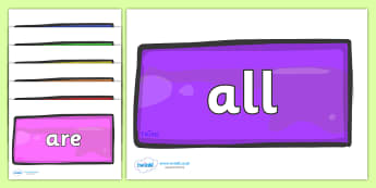 Tricky Words on Bricks (Multicolour) - Tricky words, DfES Letters and Sounds, Letters and sounds, display, words