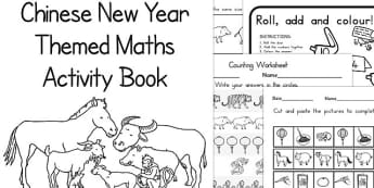 Chinese New Year Themed Maths Activity Book - australia, activity