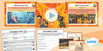PlanIt Y1 Time Travel: The Great Fire of London Lesson Pack Information Texts (2)