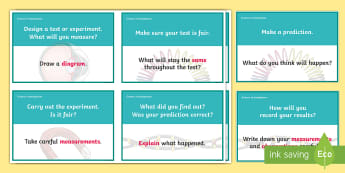 Scientific Investigation Question Prompt Cards - scientific investigation, science questions, science question prompt cards, science question cards, ks2