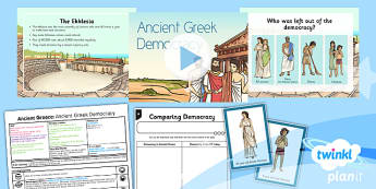 PlanIt - History KS2 - Ancient Greece Lesson 2: Ancient Greek Democracy Lesson Pack