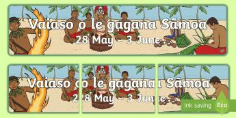 Sāmoa Language Week Display Banner - Samoa, Samoan Language Week