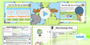 PlanIt - Geography Year 2 - Magical Mapping Lesson 3: Atlas Skills The UK Lesson Pack - maps, planning, geography, year 2, y 2, ks1, key stage 1, plans, lessons, lesson, unit, pack, 2014, curriculum, maps