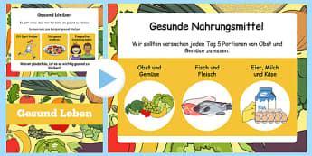 Gesund Leben - german, powerpoint, power point, interactive, powerpoint presentation, healthy eating, healthy living, health powerpoint, how to be healthy, presentation, slide show, slides, discussion aid, discussion po
