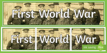 World War One Photo Display Banner - world war one, photo display banner, display banner, ww1, banner, photo banner, header, display header, photo header