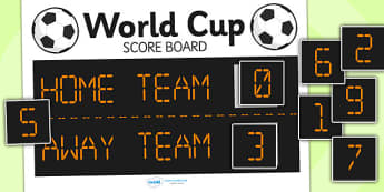 Football World Cup Role Play Scoreboard - football, world cup