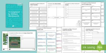 GCSE Poetry Lesson Pack to Support Teaching on 'A Complaint' by William Wordsworth - GCSE Poetry, a complaint, william wordsworth, imagery, language, context, structure, revision.