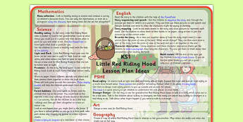 Little Red Riding Hood Lesson Plan Ideas KS1 - little, red, riding, hood, lesson, plan, lesson plan, ideas, lesson ideas, KS1, KS1 lesson ideas