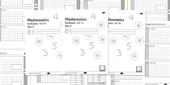 Year 3 Arithmetic Half Tests - year 3, arithmetic, half tests