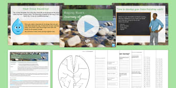 Journey of a River Lesson Pack - Journey of a river source mouth tributary confluence rivers watershed basin floodplain