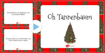 Oh Tannenbaum PowerPoint German - german, o christmas tree, powerpoint, carol, christmas