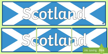Scotland Display Banner - Scotland Display Banner - CfE, Social Studies, Towns and Cities, Scottish Cities,Scottish, scotland,