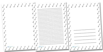 Garden Fork Portrait Page Borders- Portrait Page Borders - Page border, border, writing template, writing aid, writing frame, a4 border, template, templates, landscape