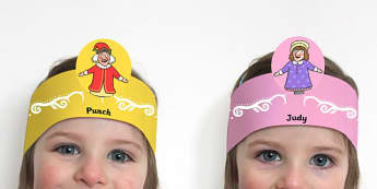 Punch and Judy Role Play Headband - role, play, headband, punch