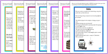 Figurative Language Reference Guides Pack - pack, reference guide