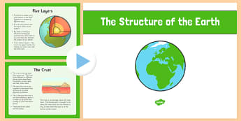 The Structure of the Earth PowerPoint - structure of the earth, powerpoint