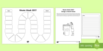 Waste Week 2017 Design A Board Game - waste week 2017, waste week, reduce, reuse, recycle, upcycle, waste, materials, recycling, upcycling