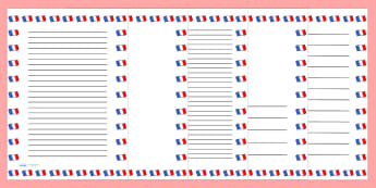 French Flag Page Borders - french, flag, page borders, borders