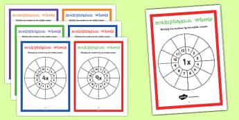 Multiplication Wheels Maths Challenge Booklet - multiplication wheels, maths, challenge, booklet