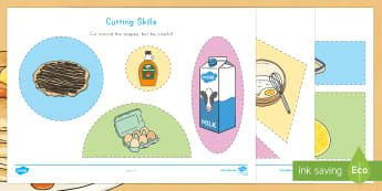 Pancake Day Cutting Skills Activity Sheet - Pancake Day, Pancake Day cutting skills, pancakes, lent, shrove tuesday, ash wednesday, easter